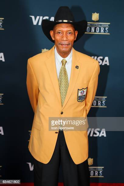 Hall of Famer Willie Brown on the Red Carpet at the 2017 NFL Honors on February 04 at the Wortham Theater Center in Houston Texas