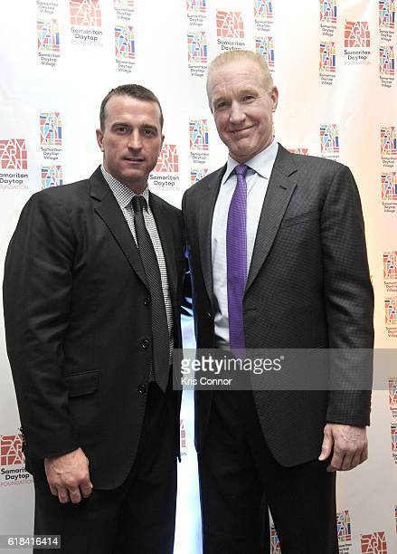 Hall of Famers Chris Herrenand Chris Mullin attend the 2016 Samaritan Daytop Foundation Gala at Tribeca Rooftop on October 26 2016 in New York City