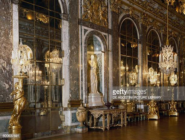 Hall of Mirrors 16781684 Palace of Versailles IledeFrance France