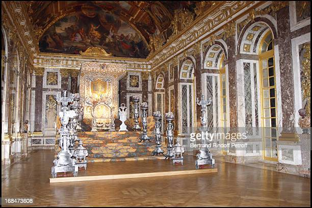 Hall of Mirrors at Private View Of The Exhibition Quand Versailles Etait Meuble D' Argent At Chateau De Versailles