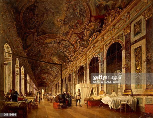 Hall of Mirrors in the Palace of Versailles during the 1870 War by Victor BachereauReverchon FrancoPrussian War France 19th century