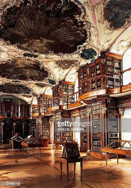 Hall of Stiftsbibliotek Abbey of St Gallen canton St Gallen Switzerland