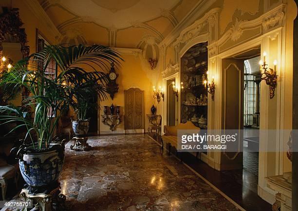 Hall of stucco 19th century Poldi Pezzoli Museum Milan Lombardy Italy Milan Museo Poldi Pezzoli