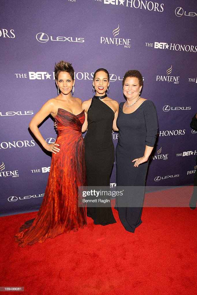 Halle Berry, Alicia Keys, and Debra Lee attend BET Honors 2013: Red Carpet Presented By Pantene at Warner Theatre on January 12, 2013 in Washington, DC.
