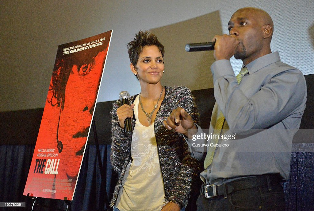 <a gi-track='captionPersonalityLinkClicked' href=/galleries/search?phrase=Halle+Berry&family=editorial&specificpeople=201726 ng-click='$event.stopPropagation()'>Halle Berry</a> and <a gi-track='captionPersonalityLinkClicked' href=/galleries/search?phrase=Morris+Chestnut&family=editorial&specificpeople=707699 ng-click='$event.stopPropagation()'>Morris Chestnut</a> attend 'The Call' red carpet screening hosted by the Woman's International Film Festival at Regal South Beach on February 26, 2013 in Miami, Florida.