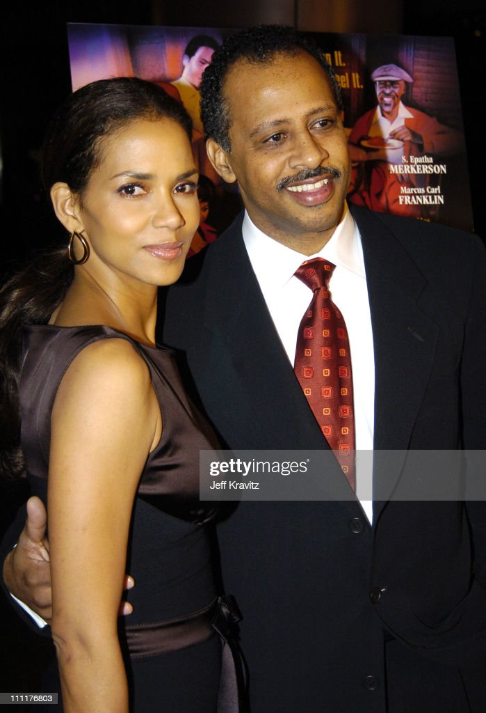 Halle Berry and Ruben SantiagoHudson during HBO Films' 'Lackawanna Blues' Premiere Red Carpet at DGA in Los Angeles California United States