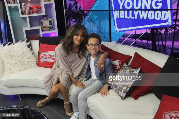Halle Berry and Sage Correa at the Young Hollywood Studio on July 29 2017 in Los Angeles California