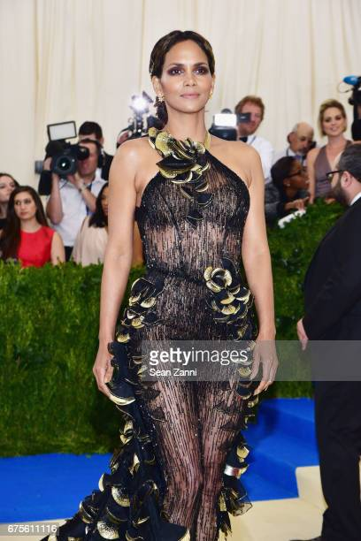 Halle Berry arrives at 'Rei Kawakubo/Comme des Garcons Art Of The InBetween' Costume Institute Gala at The Metropolitan Museum on May 1 2017 in New...