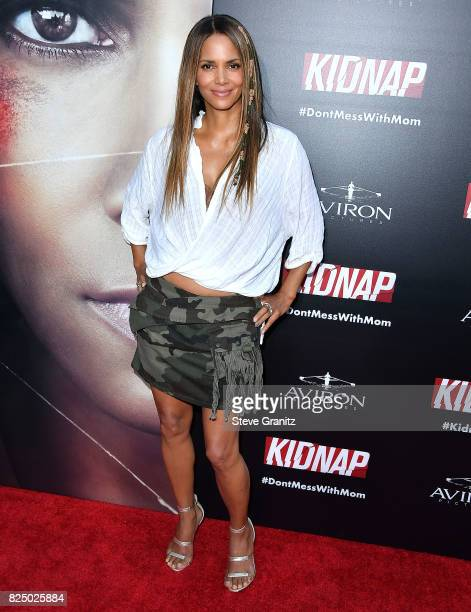 Halle Berry arrives at the Premiere Of Aviron Pictures' 'Kidnap' at ArcLight Hollywood on July 31 2017 in Hollywood California