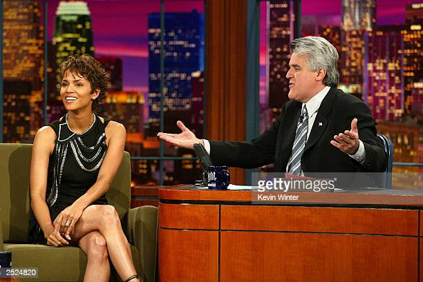Halle Berry at 'The Tonight Show with Jay Leno' at the NBC Studios in Burbank Ca Monday Nov 11 2002 Photo by Kevin Winter/Getty Images