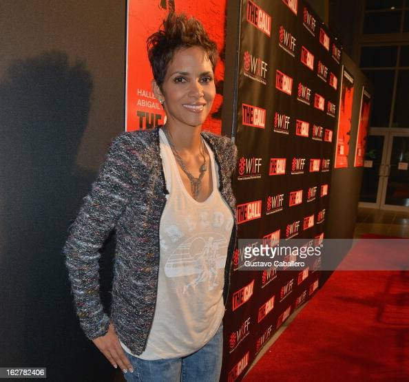 Halle Berry attends 'The Call' red carpet screening hosted by the Woman's International Film Festival at Regal South Beach on February 26 2013 in...