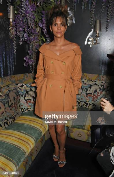 Halle Berry attends the LOVE magazine x Miu Miu party held during London Fashion Week at Loulou's on September 18 2017 in London England