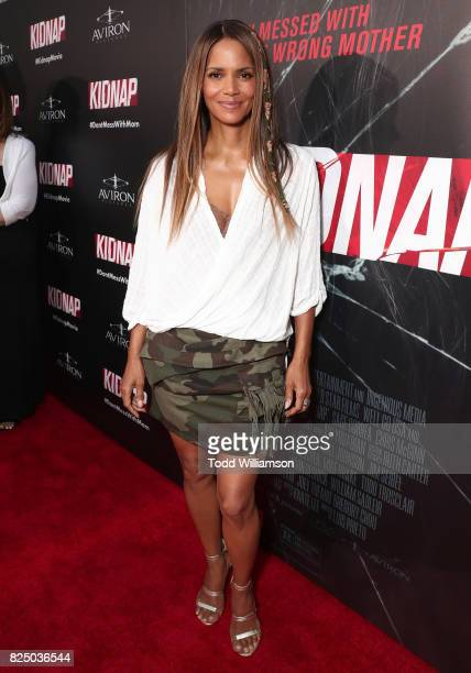 Halle Berry attends the premiere of Aviron Pictures' 'Kidnap' at ArcLight Hollywood on July 31 2017 in Hollywood California