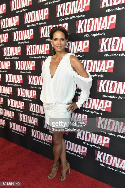 Halle Berry attends the red carpet movie KIDNAP on July 24 2017 in Miami Florida