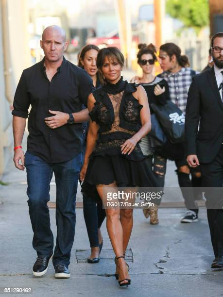 Halle Berry is seen at 'Jimmy Kimmel Live' on September 21 2017 in Los Angeles California