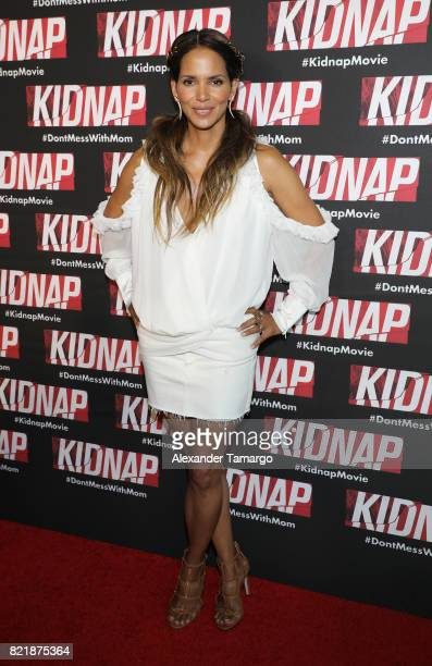 Halle Berry is seen at the 'Kidnap' screening on July 24 2017 in Miami Beach Florida