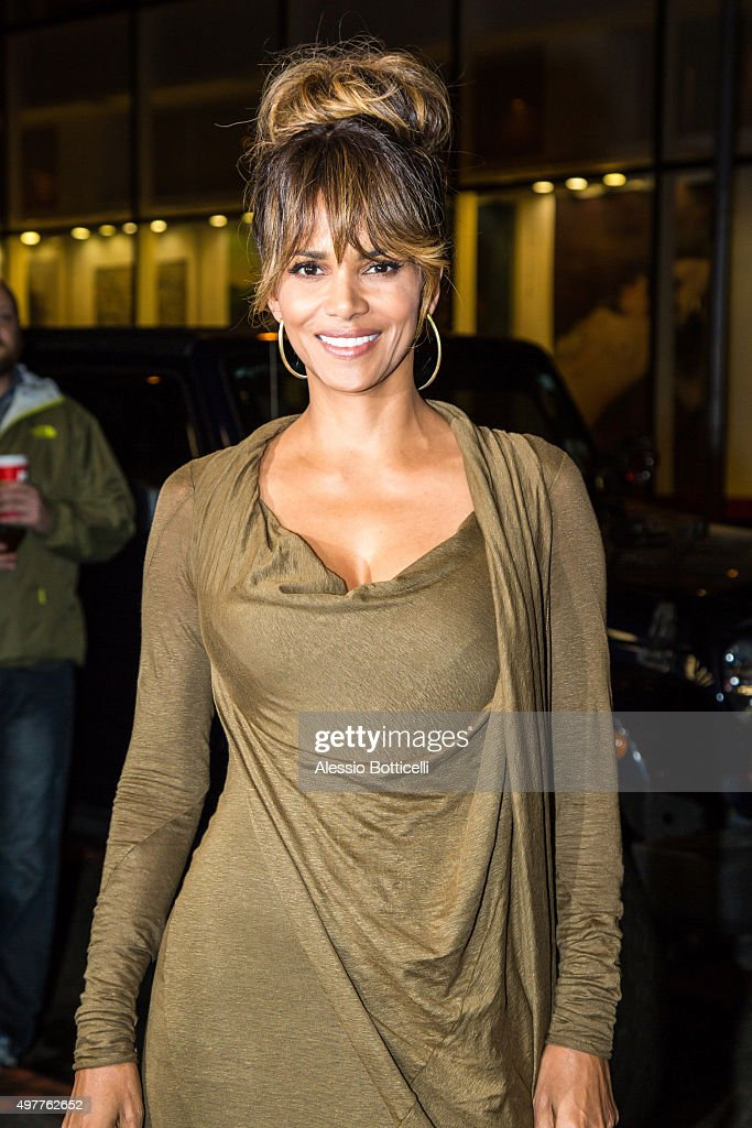 Halle Berry is seen in Midtown on November 18 2015 in New York City