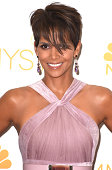 Halle Berry poses at the 66th Annual Primetime Emmy Awards at Nokia Theatre LA Live on August 25 2014 in Los Angeles California