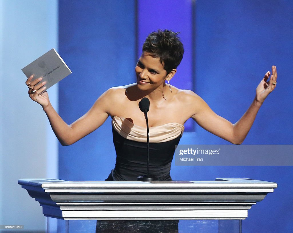 <a gi-track='captionPersonalityLinkClicked' href=/galleries/search?phrase=Halle+Berry&family=editorial&specificpeople=201726 ng-click='$event.stopPropagation()'>Halle Berry</a> speaks at the 44th NAACP Image Awards - show held at The Shrine Auditorium on February 1, 2013 in Los Angeles, California.