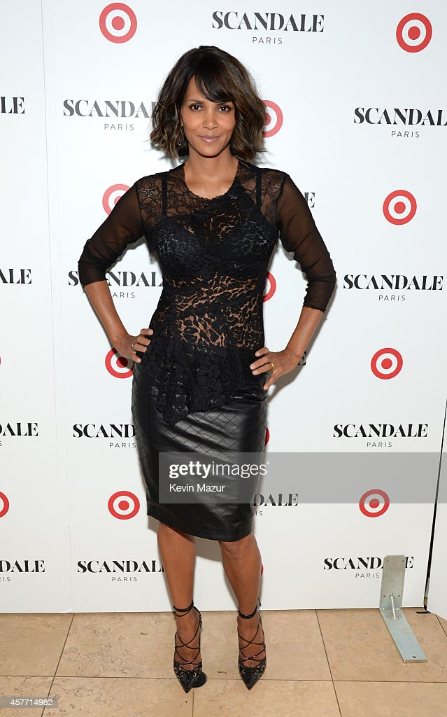 Halle Berry unveils 'Scandale Paris' at Laduree Soho on October 23 2014 in New York City