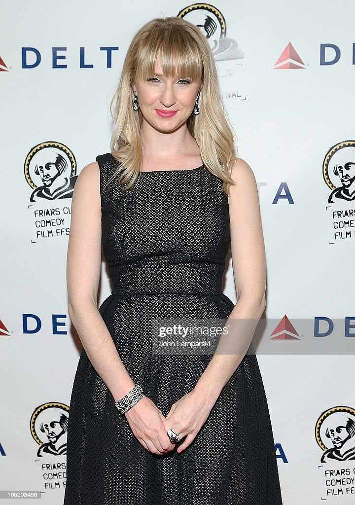 <a gi-track='captionPersonalityLinkClicked' href=/galleries/search?phrase=Halley+Feiffer&family=editorial&specificpeople=2083909 ng-click='$event.stopPropagation()'>Halley Feiffer</a> attends the Friars Club Fifth Annual Comedy Film Festival Opening Night at NYU Cantor Film Center on April 1, 2013 in New York City.