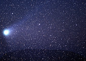 Halley's Comet over Uluru outback Australia 1986