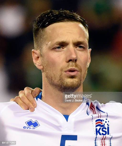 Hallgrimur Jonasson of Iceland stands on the field before the team's exhibition match against Mexico at Sam Boyd Stadium on February 8 2017 in Las...