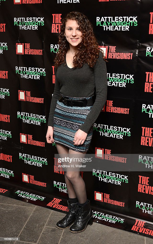 Hallie Eisenberg attends 'The Revisionist' opening night at Cherry Lane Theatre on February 28, 2013 in New York City.