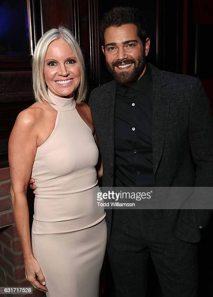 Hallmark EVP of Programming and Network Publicity Michelle Vicary and Jesse Metcalfe attend the Hallmark Channel And Hallmark Movies And Mysteries...