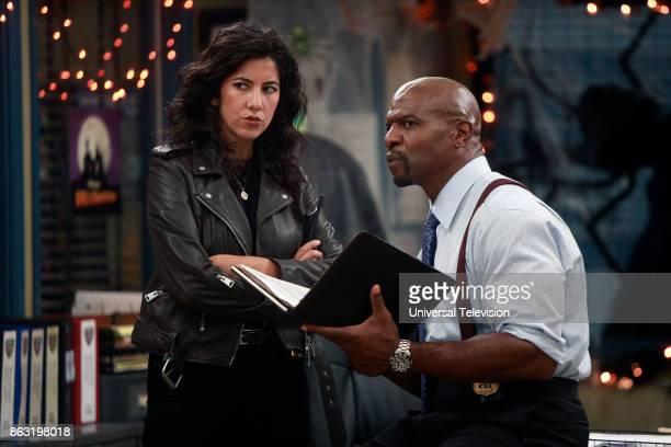 NINE 'HalloVeen' Episode 504 Pictured Stephanie Beatriz as Rosa Diaz Terry Cruz as Terry Jeffords