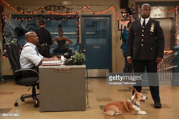 NINE 'HalloVeen' Episode 504 Pictured Terry Crews as Terry Jeffords Andre Braugher as Ray Holt