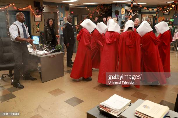 NINE 'HalloVeen' Episode 504 Pictured Terry Crews as Terry Jeffords Stephanie Beatriz as Rosa Diaz Andre Braugher as Ray Holt Joel McKinnon Miller as...