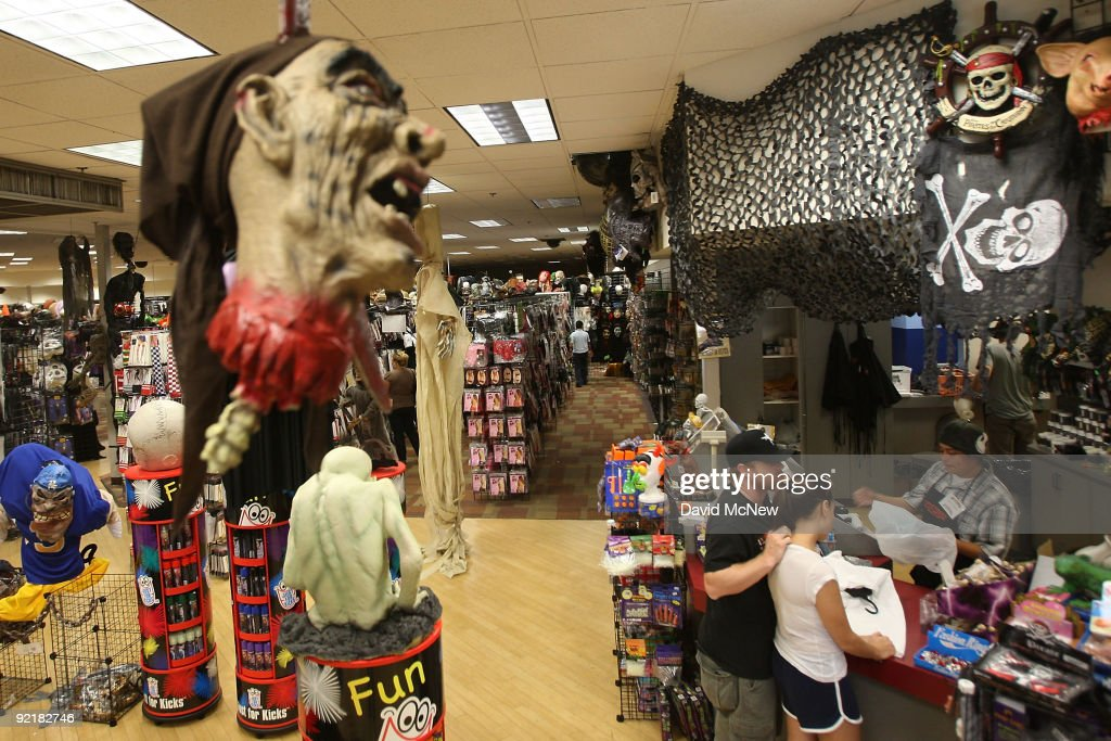 a halloween adventure store located in a defunct circuit city consumer electronics store building - Halloween Adventure Store