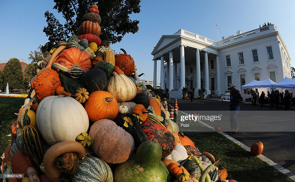 White House Decorated For Halloween Part - 43: Halloween Decorations Are Seen At The North Portico Of The White House  October 31, 2010