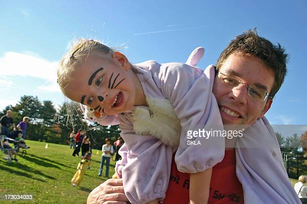 Halloween Family Fun - young girl with father