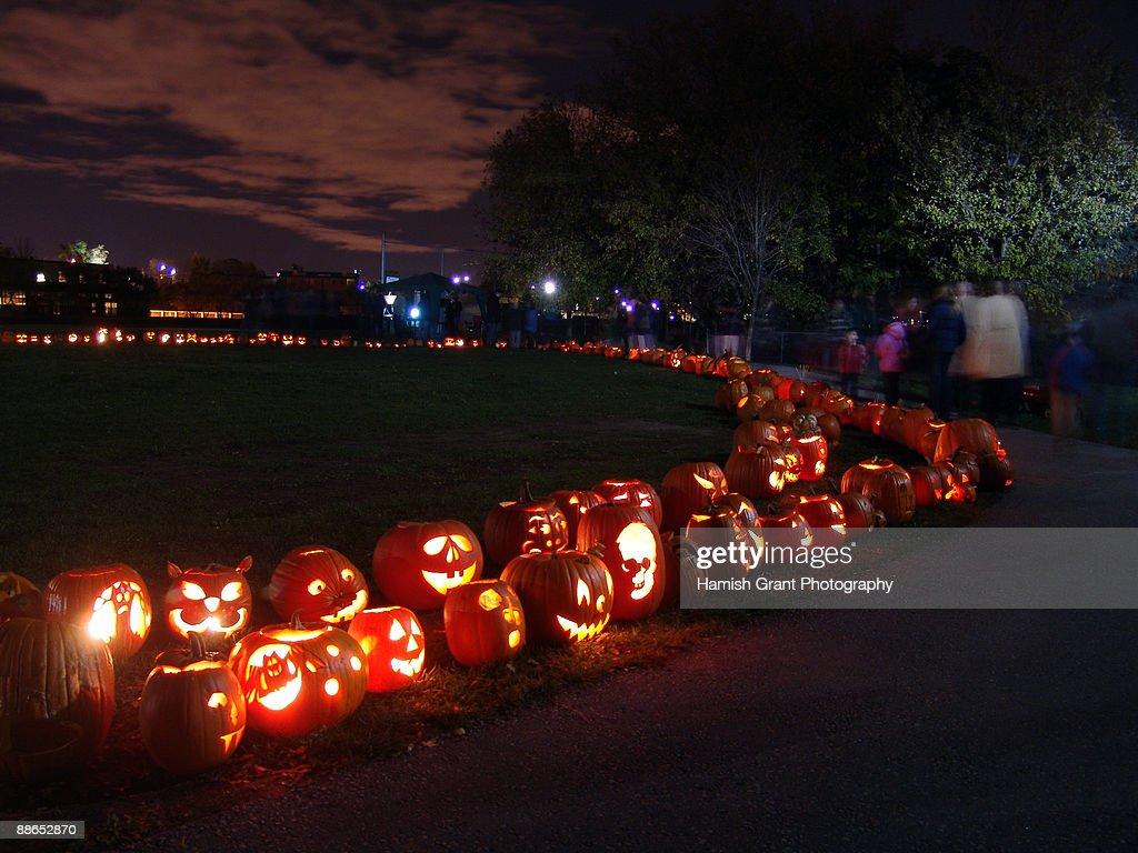 Halloween in double row