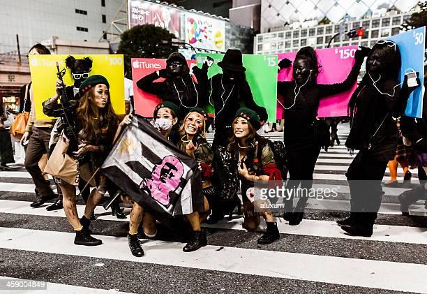 Halloween in Shibuya Tokyo Japan