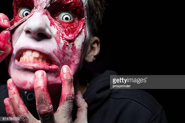 Dia das Bruxas homem rosto