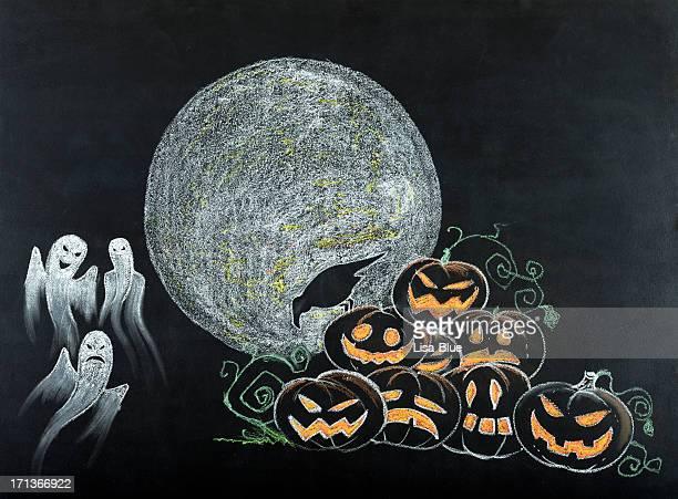 Scène de nuit de Halloween
