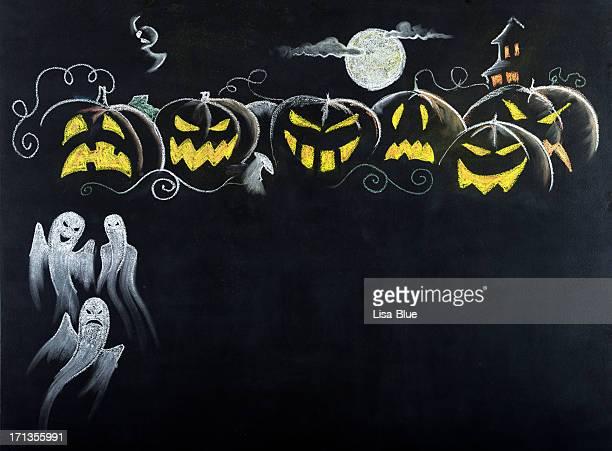 Nuit d'Halloween Scene.Copy espace.
