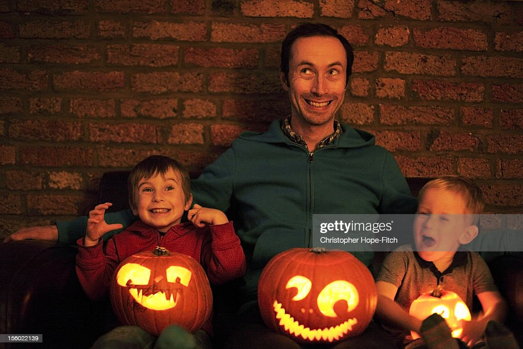 Halloween Pumpkin Faces : Stock Photo
