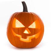Halloween Pumpkin isolated on white background
