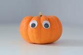 Halloween Pumpkin with Googly Eyes