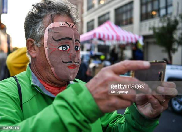 Halloween reveler attends the 44th Annual Village Halloween Parade on October 31 2017 in New York City