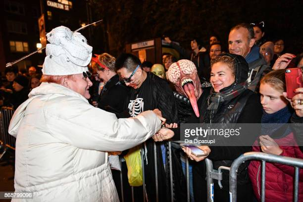 Halloween revelers attend the 44th Annual Village Halloween Parade on October 31 2017 in New York City