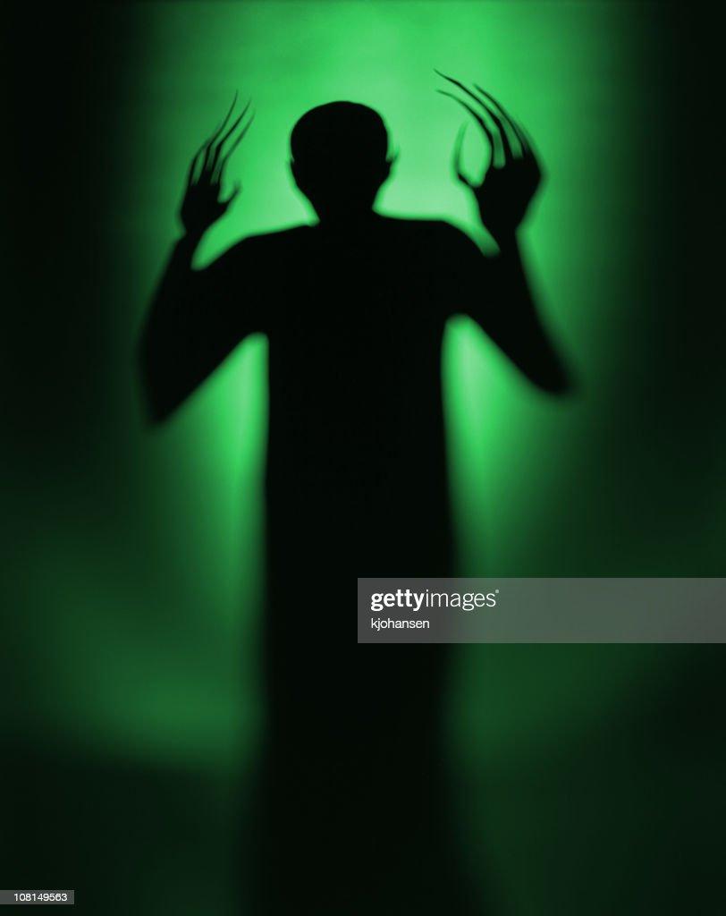 Halloween Spooky Green Alien Vampire : Stock Photo