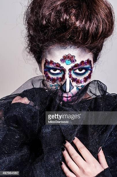 Halloween Sugar skull creative make up