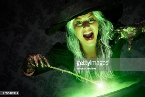 Halloween Witch Conjuring A Spell