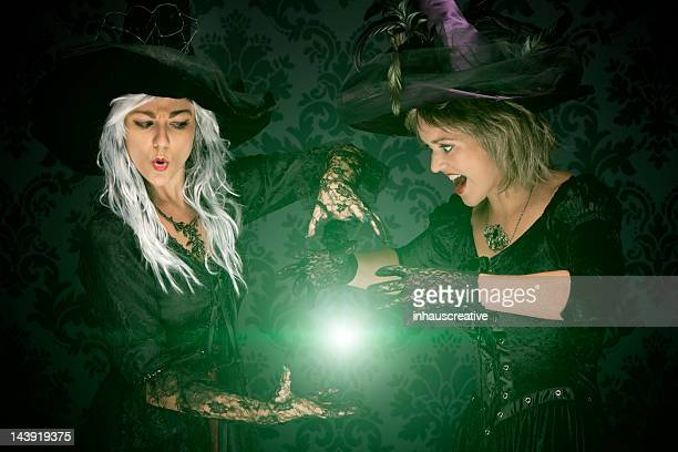 Halloween Witches Conjuring A Spell