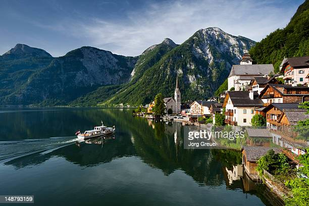 Hallstatt and Lake Hallst?tter See at sunrise